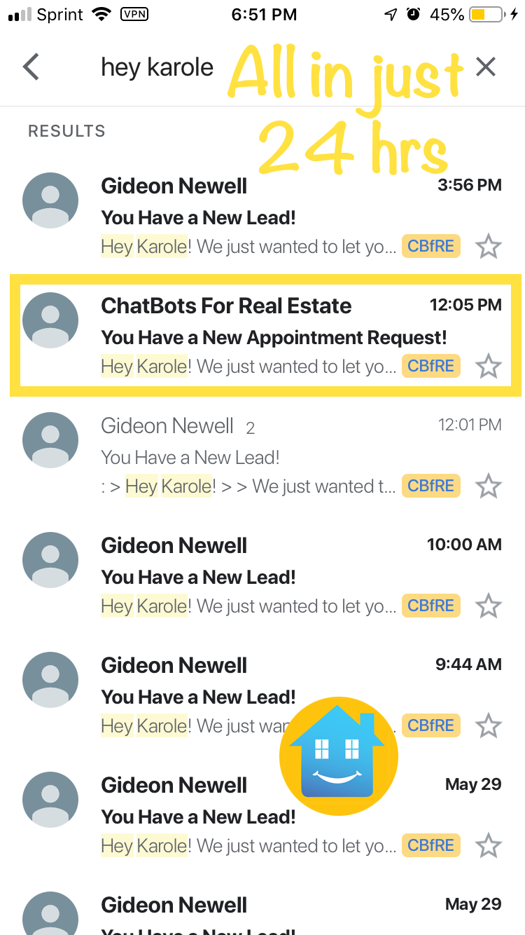 All these leads + an appointment in under 24 hours!