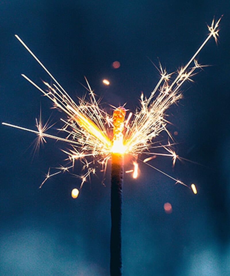 Spark burning
