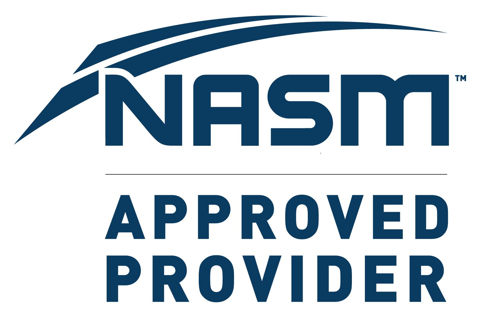 NASM CEU Provider for nutrition, health & fitness continuing education