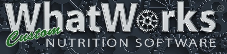 What Works Custom Nutrition Software