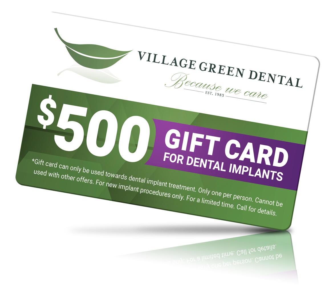 Gift Card - Save Money on Dental Implants