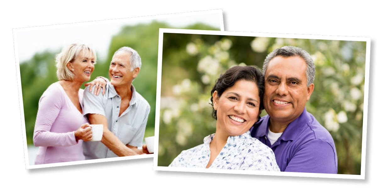 Couples Smiling with Dental Implants