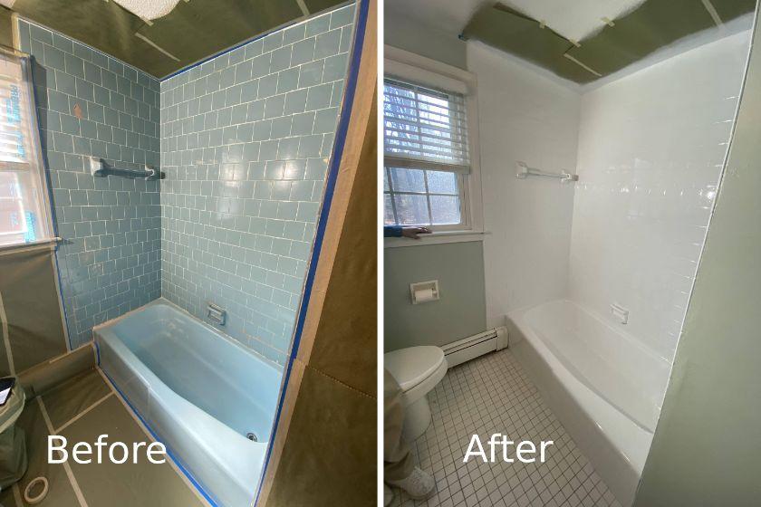 shower tile reglazing Cambridge, MA